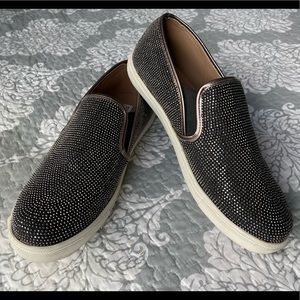 Steve Madden — Sparkly Bedazzled Slip On Flats